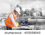 industrial engineer checking...   Shutterstock . vector #455058043