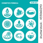 vector set web icons. cosmetics ... | Shutterstock .eps vector #455060293
