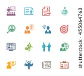 employment and business icons   ... | Shutterstock .eps vector #455064763