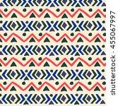 ethnic  pattern. aztec... | Shutterstock .eps vector #455067997