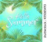 hello summer rio brazil 2016... | Shutterstock .eps vector #455085493