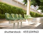 Empty Green Chair At The Publi...