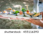 food was prepared for the... | Shutterstock . vector #455116393