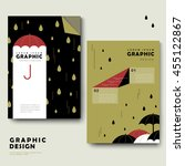 rainy day brochure template... | Shutterstock .eps vector #455122867
