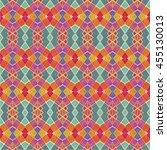 colorful multicolored geometric ... | Shutterstock . vector #455130013