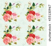 seamless floral pattern three... | Shutterstock .eps vector #455130967