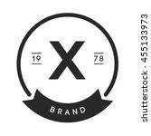 minimal letter x logo. vintage...   Shutterstock .eps vector #455133973