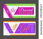gift voucher template. can be... | Shutterstock .eps vector #455158117
