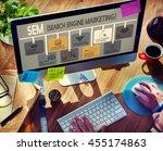 search engine marketing online... | Shutterstock . vector #455174863