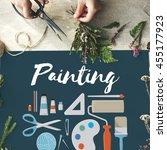 painting gallery ideas... | Shutterstock . vector #455177923