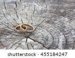 wedding engagement rings on the ... | Shutterstock . vector #455184247