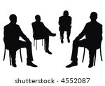 businessmen on the chair | Shutterstock .eps vector #4552087