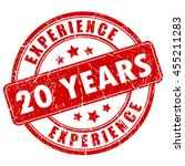 20 years experience rubber... | Shutterstock .eps vector #455211283