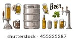 beer set with two hands holding ...   Shutterstock .eps vector #455225287