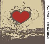 Cd Cover With Heart  Vector
