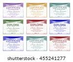 diploma  certificate of... | Shutterstock .eps vector #455241277
