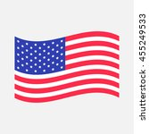 waving american flag icon.... | Shutterstock . vector #455249533