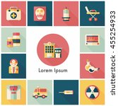 hospital and health icons set | Shutterstock .eps vector #455254933