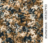 camouflage pattern seamless... | Shutterstock .eps vector #455267953