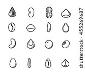 seed icons set | Shutterstock .eps vector #455269687