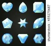 set of gemstones with different ...   Shutterstock .eps vector #455275687