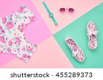 fashion. clothes accessories... | Shutterstock . vector #455289373