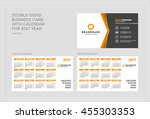 double sided business card... | Shutterstock .eps vector #455303353