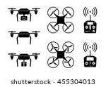 drone icon set. drone remote... | Shutterstock .eps vector #455304013