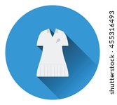 tennis woman uniform icon. flat ...