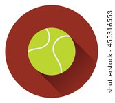tennis ball icon. flat color...