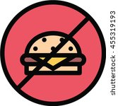 no fast food outline icon