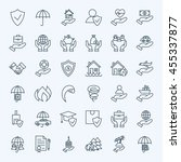 line insurance service icons... | Shutterstock .eps vector #455337877