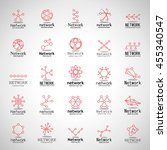 network icons set   isolated on ...   Shutterstock .eps vector #455340547