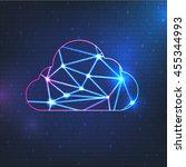 cloud technology vector... | Shutterstock .eps vector #455344993