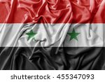 ruffled waving syria flag | Shutterstock . vector #455347093