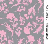 pink abstract flowers pattern... | Shutterstock .eps vector #455347147