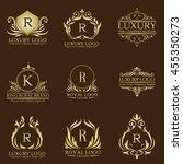 luxury logo set | Shutterstock .eps vector #455350273
