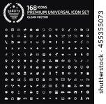 universal website icon set... | Shutterstock .eps vector #455355073