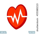 cardiology icon  heart health... | Shutterstock .eps vector #455380213