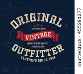 typography vintage outfit brand ... | Shutterstock .eps vector #455381377