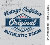typography vintage outfit brand ... | Shutterstock .eps vector #455381383
