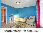 cute kids room with blue walls  ... | Shutterstock . vector #455383357