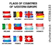 set of flags of western europe... | Shutterstock .eps vector #455386183
