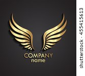 3d Wings Gold Logo   Vector...