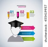 infographic education concept... | Shutterstock .eps vector #455419957