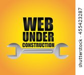 under construction and work in... | Shutterstock .eps vector #455423287