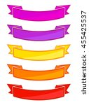 set of colored ribbons. eps10... | Shutterstock .eps vector #455425537