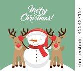merry christmas concept... | Shutterstock .eps vector #455427157