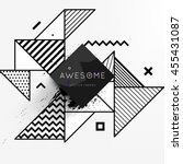 trendy geometric flat pattern ... | Shutterstock .eps vector #455431087