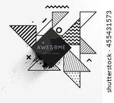 trendy geometric flat pattern ... | Shutterstock .eps vector #455431573